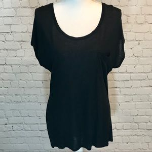 ♥️Express black hi-lo pocket t-shirt tunic NWOT